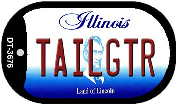 Tailgtr Illinois Novelty Metal Dog Tag Necklace DT-3676