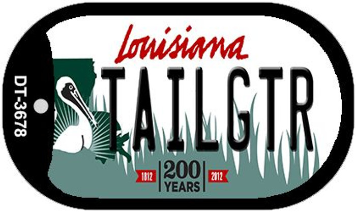 Tailgtr Louisiana Novelty Metal Dog Tag Necklace DT-3678