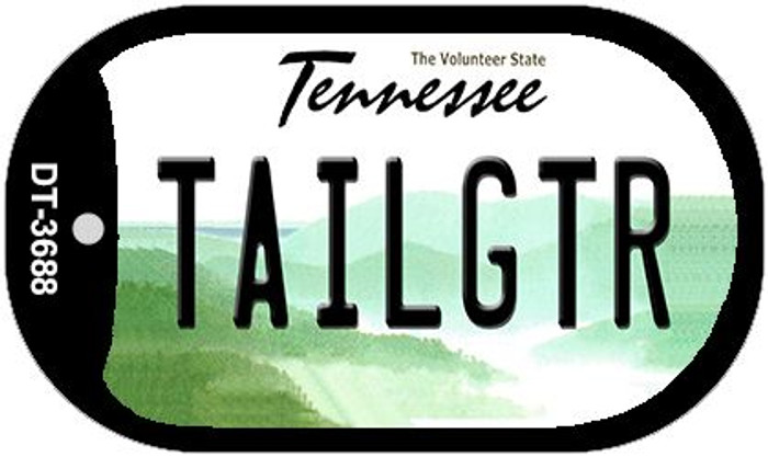 Tailgtr Tennessee Novelty Metal Dog Tag Necklace DT-3688