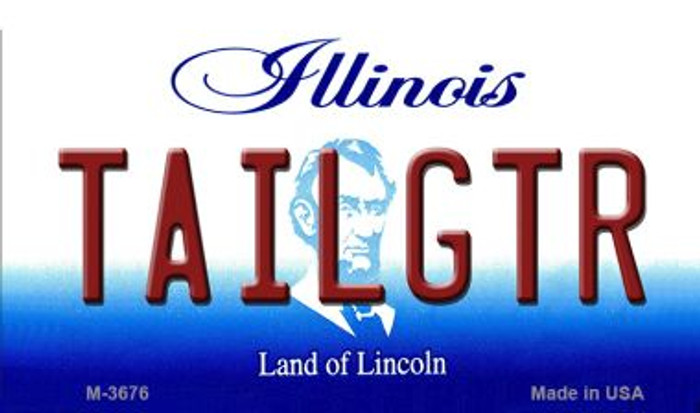Tailgtr Illinois Novelty Metal Magnet M-3676