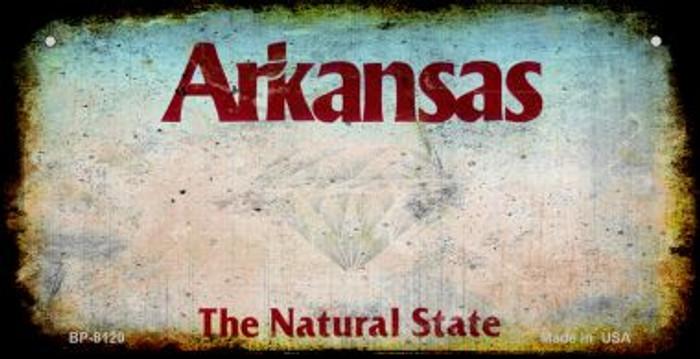 Arkansas Rusty Blank Background Wholesale Novelty Metal Bicycle Plate BP-8120