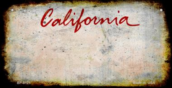 California Rusty Blank Background Wholesale Novelty Metal Bicycle Plate BP-8121