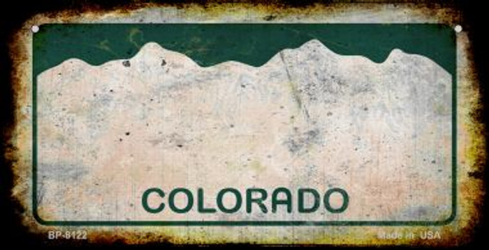 Colorado Rusty Blank Background Wholesale Novelty Metal Bicycle Plate BP-8122