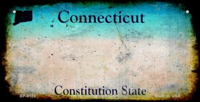 Connecticut Rusty Blank Background Wholesale Novelty Metal Bicycle Plate BP-8123