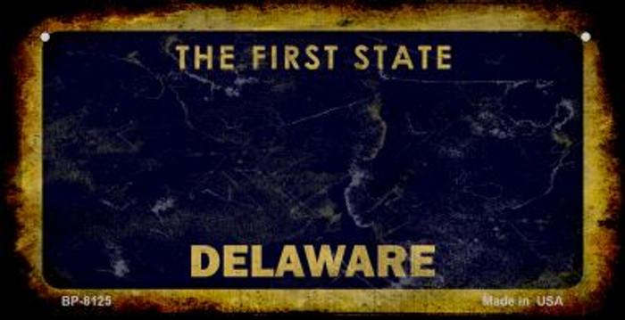 Delaware Rusty Blank Background Wholesale Novelty Metal Bicycle Plate BP-8125