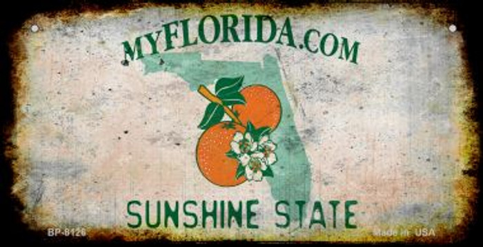 Florida Rusty Blank Background Wholesale Novelty Metal Bicycle Plate BP-8126
