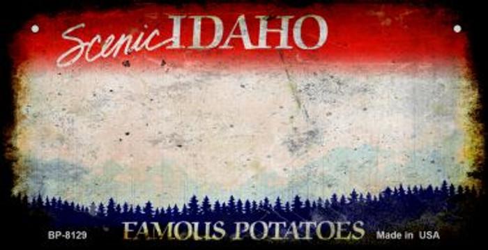 Idaho Rusty Blank Background Wholesale Novelty Metal Bicycle Plate BP-8129