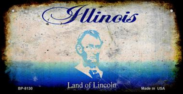 Illinois Rusty Blank Background Wholesale Novelty Metal Bicycle Plate BP-8130