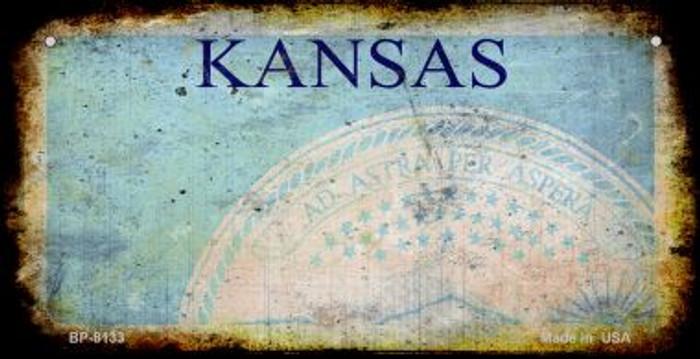 Kansas Rusty Blank Background Wholesale Novelty Metal Bicycle Plate BP-8133