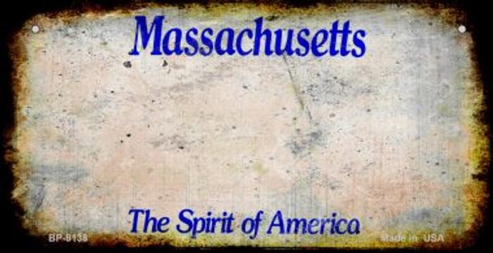 Massachusetts Rusty Blank Background Wholesale Novelty Metal Bicycle Plate BP-8138