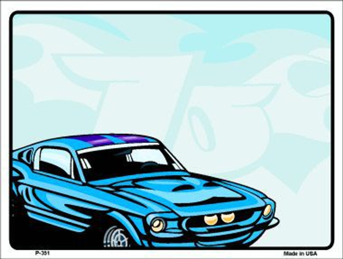 Classic Car Mustang Metal Novelty Parking Sign P-351