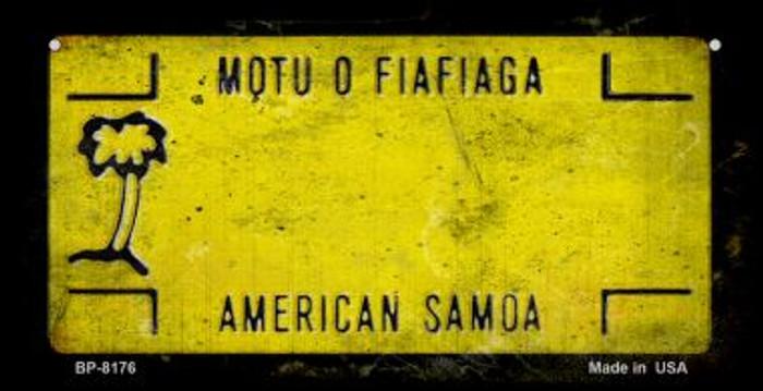 American Samoa Rusty Blank Background Novelty Metal Bicycle Plate BP-8176