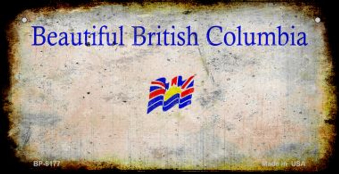 British Columbia Rusty Blank Background Novelty Metal Bicycle Plate BP-8177