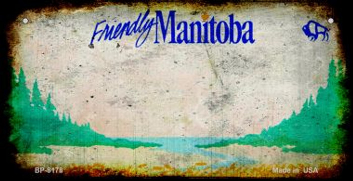 Manitoba Rusty Blank Background Novelty Metal Bicycle Plate BP-8178