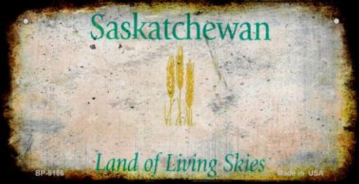 Saskatchewan Rusty Blank Background Novelty Metal Bicycle Plate BP-8186