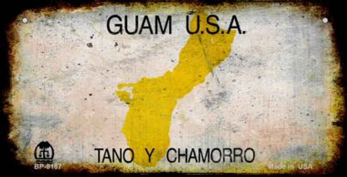 Guam Rusty Blank Background Novelty Metal Bicycle Plate BP-8187