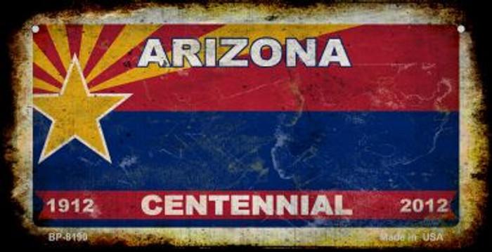 Arizona Centennial Rusty Blank Background Novelty Metal Bicycle Plate BP-8190