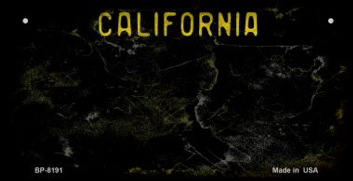 California Black Rusty Blank Background Novelty Metal Bicycle Plate BP-8191