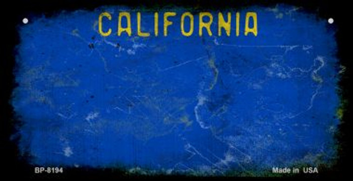 California Blue Rusty Blank Background Novelty Metal Bicycle Plate BP-8194