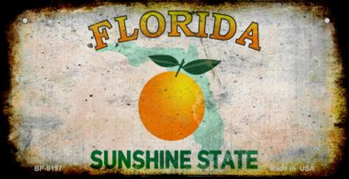 Florida Rusty Blank Background Novelty Metal Bicycle Plate BP-8197