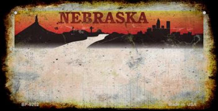 Nebraska Rusty Blank Background Novelty Metal Bicycle Plate BP-8202