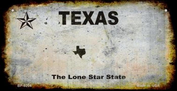 Texas Rusty Blank Background Novelty Metal Bicycle Plate BP-8204