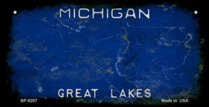 Michigan Rusty Blank Background Novelty Metal Bicycle Plate BP-8207