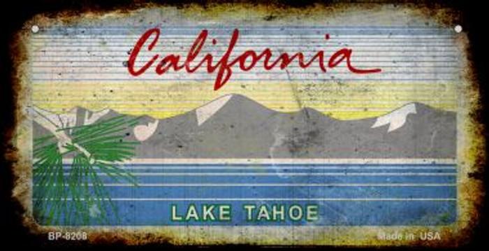 California Lake Tahoe Rusty Blank Background Novelty Metal Bicycle Plate BP-8208