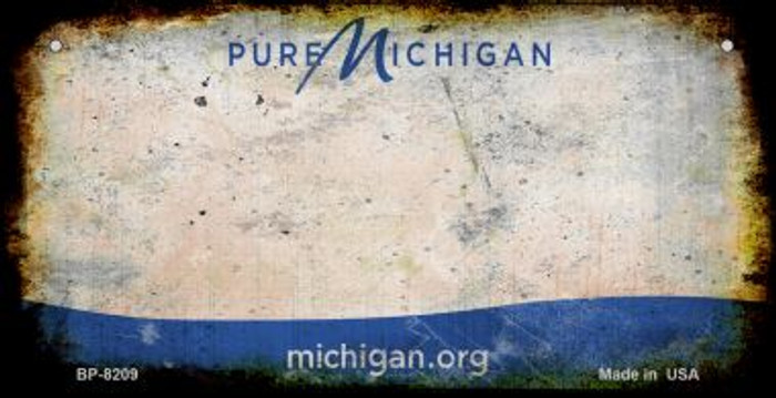 Michigan Rusty Blank Background Novelty Metal Bicycle Plate BP-8209
