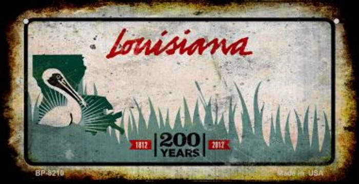 Louisiana Rusty Blank Background Novelty Metal Bicycle Plate BP-8210