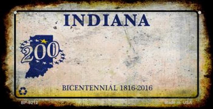 Indiana Rusty Blank Background Novelty Metal Bicycle Plate BP-8212