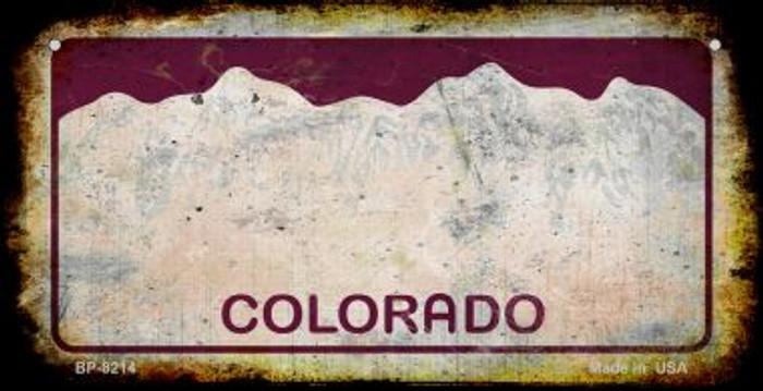 Colorado Rusty Blank Background Novelty Metal Bicycle Plate BP-8214