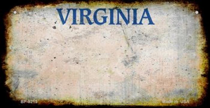 Virginia Rusty Blank Background Novelty Metal Bicycle Plate BP-8215