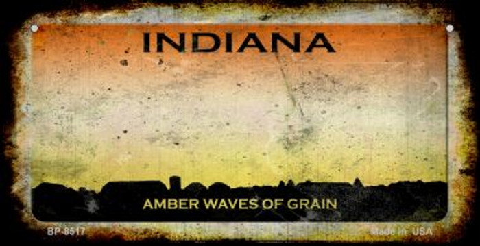 Indiana Rusty Blank Background Novelty Metal Bicycle Plate BP-8517