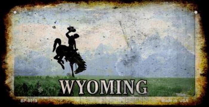 Wyoming Rusty Blank Background Novelty Metal Bicycle Plate BP-8519
