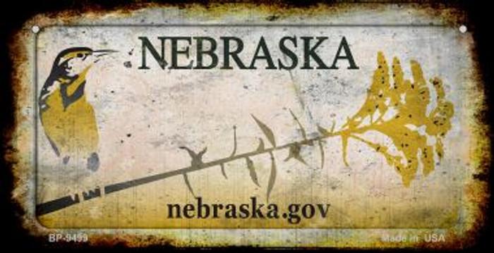 Nebraska Rusty Blank Background Novelty Metal Bicycle Plate BP-9499