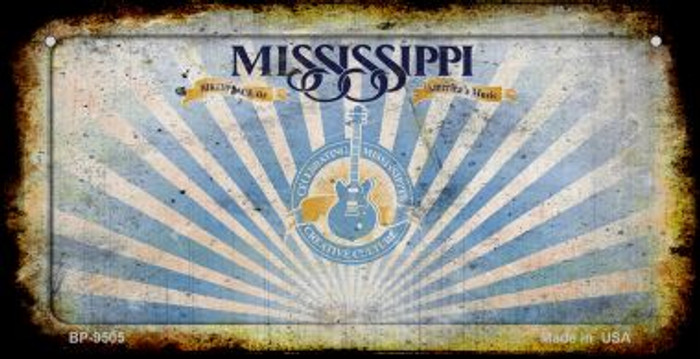 Mississippi Rusty Blank Background Novelty Metal Bicycle Plate BP-9505
