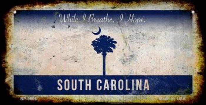 South Carolina Rusty Blank Background Novelty Metal Bicycle Plate BP-9506