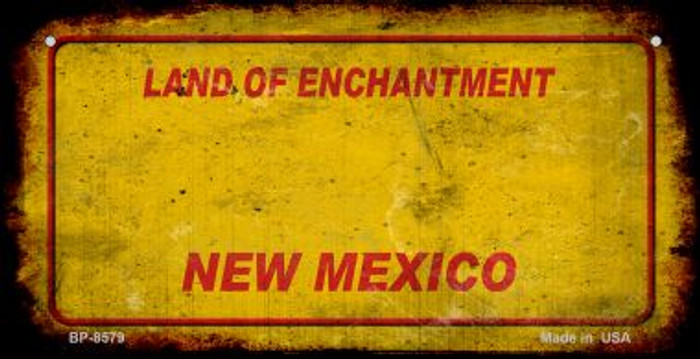 New Mexico Rusty Blank Background Novelty Metal Bicycle Plate BP-11716