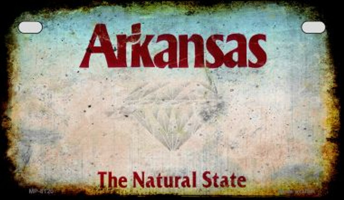 Arkansas Rusty Blank Background Novelty Metal Motorcycle Plate MP-8120