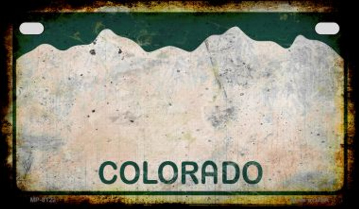 Colorado Rusty Blank Background Novelty Metal Motorcycle Plate MP-8122