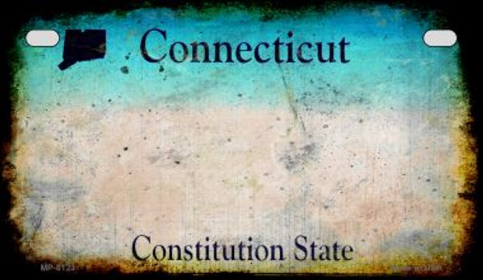 Connecticut Rusty Blank Background Novelty Metal Motorcycle Plate MP-8123