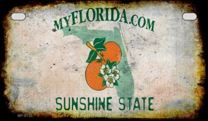 Florida Rusty Blank Background Novelty Metal Motorcycle Plate MP-8126