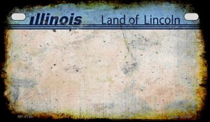 Illinois Rusty Blank Background Novelty Metal Motorcycle Plate MP-8189