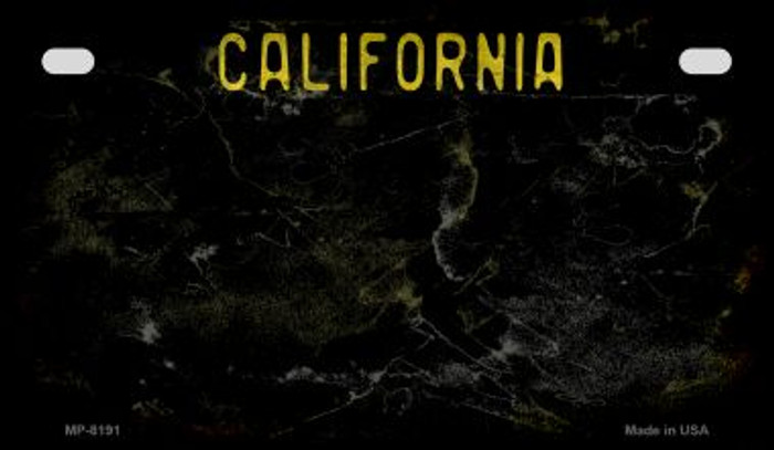 California Black Rusty Blank Background Novelty Metal Motorcycle Plate MP-8191