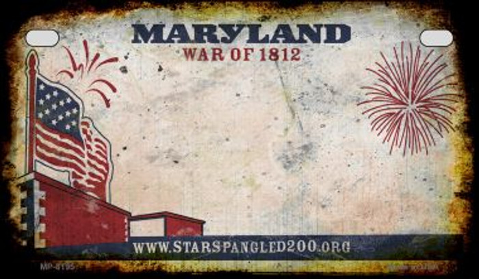 Maryland Rusty Blank Background Novelty Metal Motorcycle Plate MP-8195