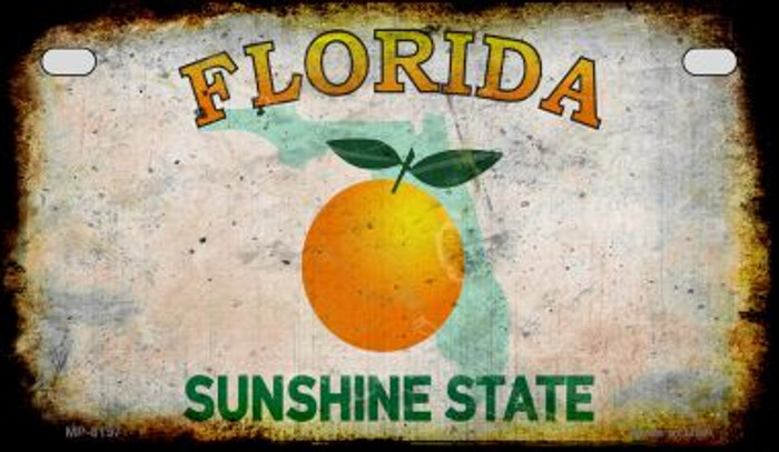 Florida Rusty Blank Background Novelty Metal Motorcycle Plate MP-8197