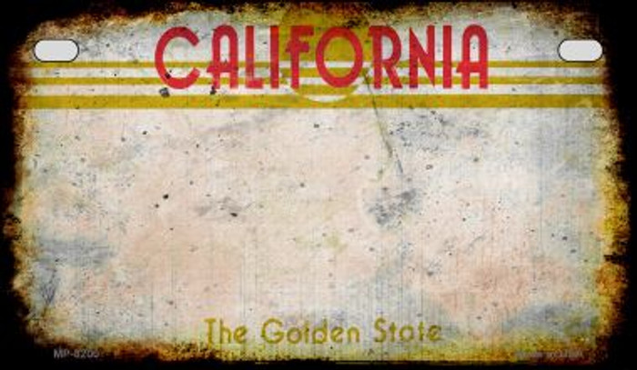 California Rusty Blank Background Novelty Metal Motorcycle Plate MP-8200