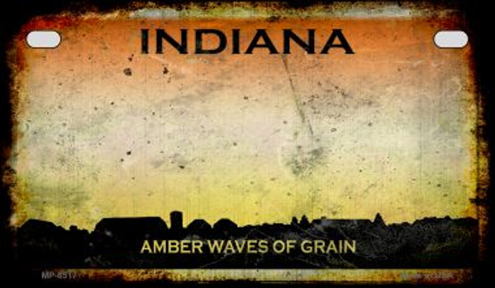 Indiana Rusty Blank Background Novelty Metal Motorcycle Plate MP-8517