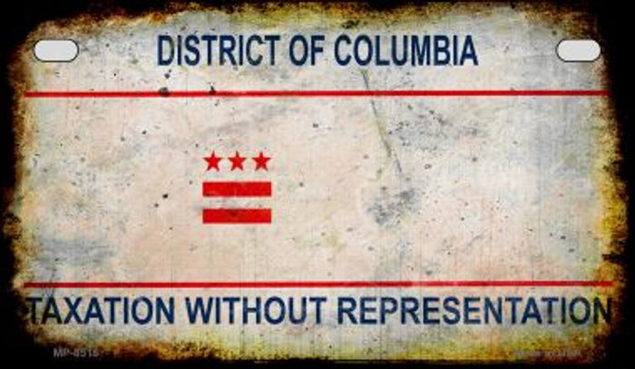 District of Columbia Rusty Blank Background Novelty Metal Motorcycle Plate MP-8518